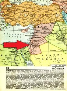 Elő-Ázsia egy 1940-es térképen. Fotó: Arold Péter