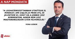 Vona Gábor levele