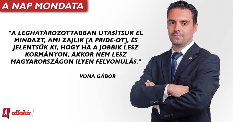 Vona Gábor megírta levelét
