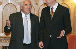 Gyurcsány Ferenc miniszterelnök, és Dominique Strauss-Kahn