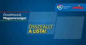 Összeállt a DK-Szolidaritás választási szövetség listája a jövő évi parlamenti választásokra